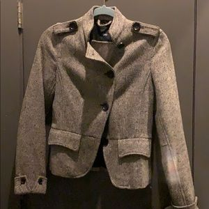 Gap Military style tweed peacoat